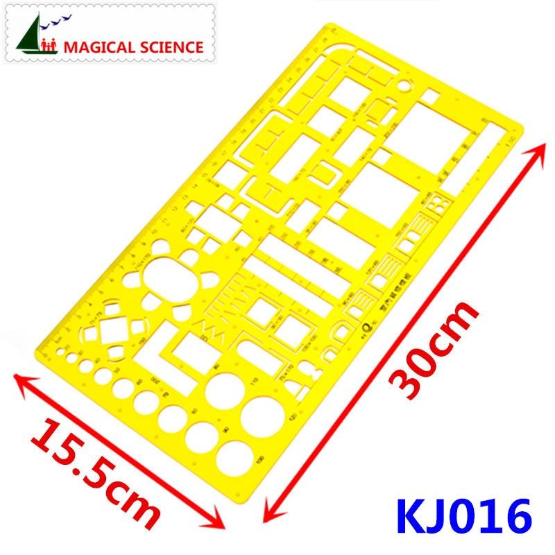 29cm Plastic Interior Decoration Templates Drawing Template For Students Interior Design Rulers KJ016
