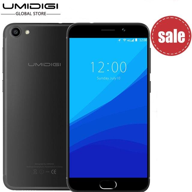 Umidigi G Оригинальный Телефон Android 7.0 Смартфон 2 Г RAM 16 Г ROM 4 Г Lte Сенсорный ID Dual Sim 5 ''HD Quard Ядро Сотовый Мобильный Телефон