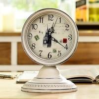 home decor reloj despertador al fajr clock watches quartz digital automobile clock retro watch vintage alarm clock metal round