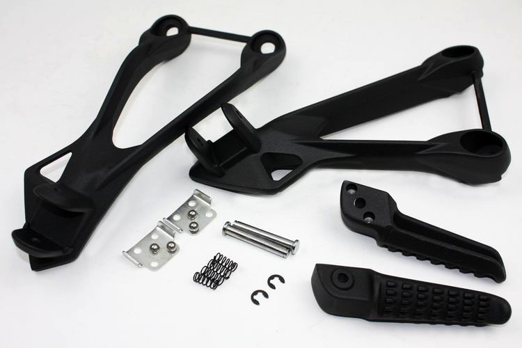 Aftermarket Free shipping motorcycle partsBlack Rear Passenger Foot Peg Bracket fit For Kawasaki ZX6R 2005 2006 2007 2008 aftermarket free shipping motorcycle parts eliminator tidy tail for 2006 2007 2008 fz6 fazer 2007 2008b lack