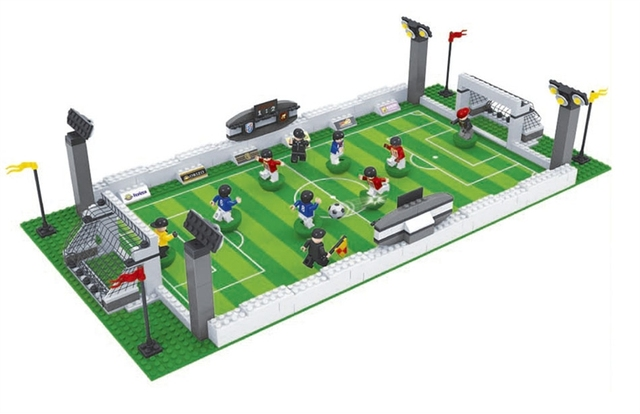 Model building kits compatible with lego city football series 199 3D blocks Educational model building toys hobbies for children