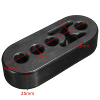 2Pcs 12mm 4 Holes Car Rubber Exhaust Hanger Pipe Mount Mounting Bracket Hanger Heavy Duty Replacement