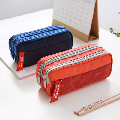 double zipper pencil bag pencil pouches for school high quality