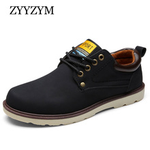 Man Casual Shoes Spring Summer Lace up Style Pu Leather Flat Fashion Trend Round Toe Men