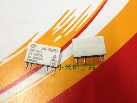 Free shipping new  relay HF49FD 005-1H11 4Pin  5A 250V  10pcslot