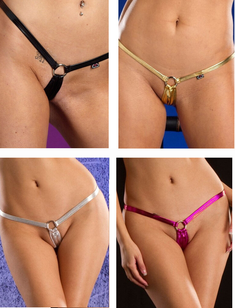 sexy micro mini thong metallic micro g string bikini shorts ladies sexy underwear sexy lingerie hot ropa interior mujer(China)