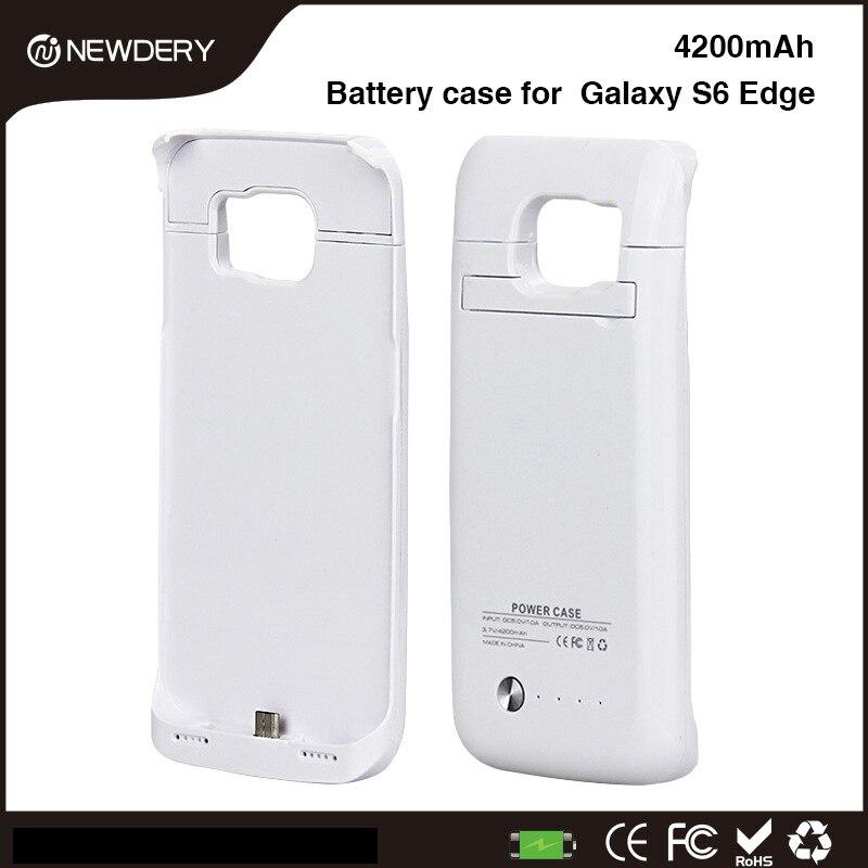 imágenes para NEWDERY 1L Para Samsung S6 edge Caso de la Energía 4200 mAh Cargador de Batería Externo de Copia de seguridad Caja de La Batería Galaxy S 6 BORDE cargador