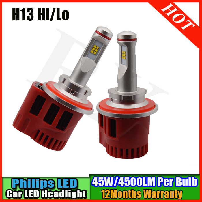 2016 Newest 90W 9000LM 6000K H13 Hi Low Beam P HILIPS CHIP LED CAR TRUCK Headlight Kit bulbs 3000K 4000K 5000K 6000K akg c214st