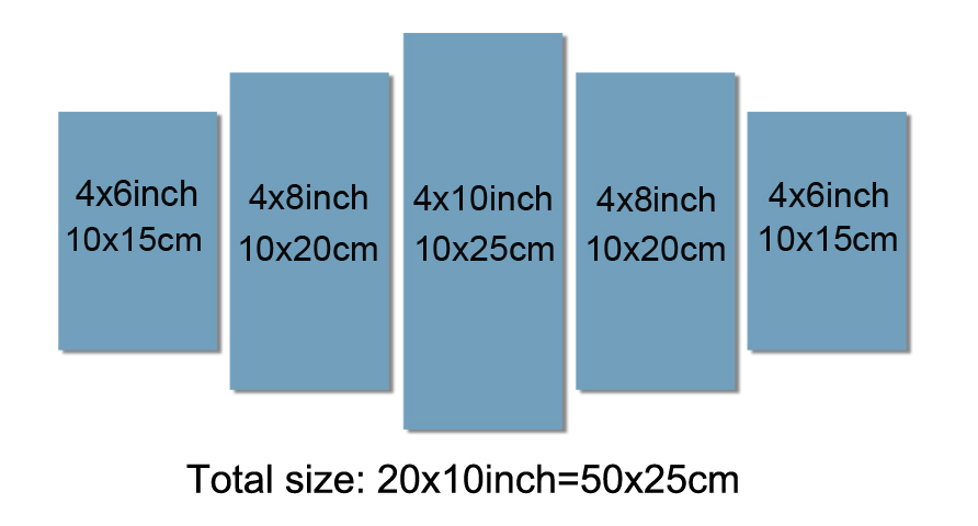 5PCS  10x15cm 10x20cm 10x25cm Image size