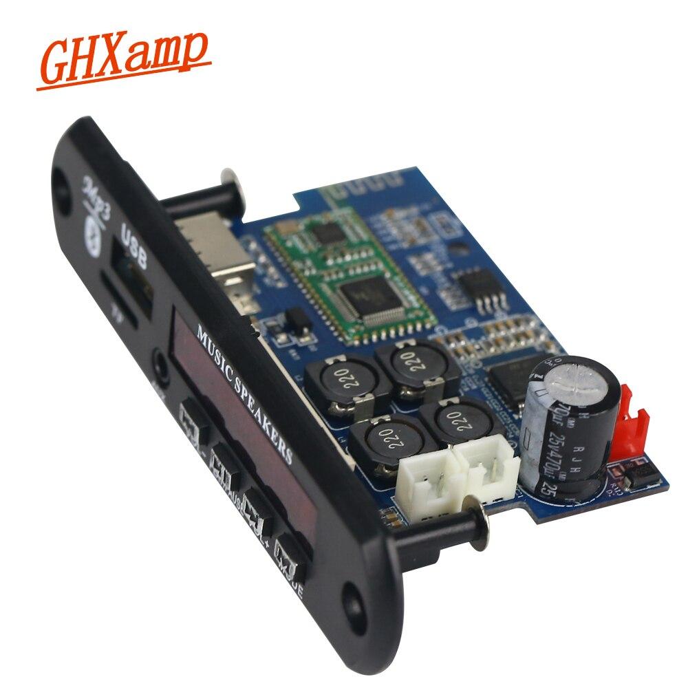 Placa de Amplificador w + 25 Bluetooth Decodificador Wav Ape Lossless Áudio Usb tf Aux Dc12v-24v Tda7492p 25 Mp3