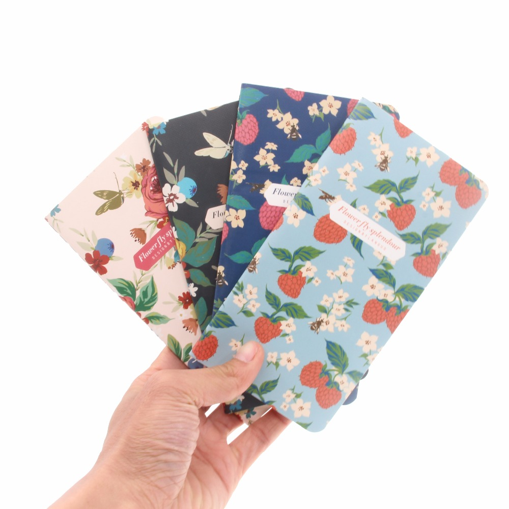 48K Mini Softcover Notebook Small Cartoon Notebook Journals Diary, Workbook Stitching Binding 173*90mm, 24 sheets/ 48 pages