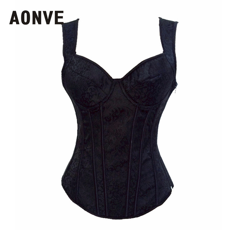 AONVE   Corset     Corsets   and   Bustiers   Burlesque   Corset   Sexy Lingerie Gothic Clothing Sexy Corsage Basque Coselet   Corset