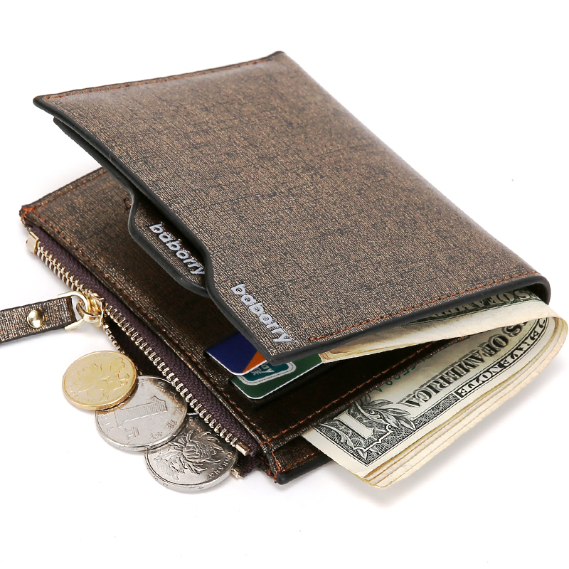 Hot Fashion Men Wallet with Coin Pocket Wallet ID Card holder Purse Clutch with zipper Men Wallet T051(China)