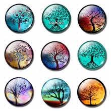 Art Tree 30MM Fridge Magnet Tree of Life Glass Dome Magnetic Refrigerator Stickers Creative Home Decor Accessories Kitchen Decor painting the bird 30mm fridge magnet cute animals refrigerator magnet glass dome magnetic stickers creative home decor
