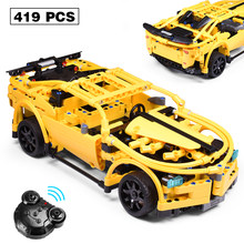 419PCS Technic Series RC Car Model Sports Racing Car DIY Building Block Compatible with LegoINGly City Blocks Toys For Children(China)