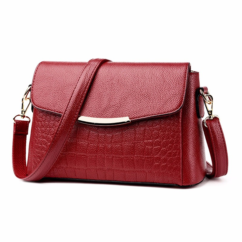 Women's Crossbody Bags 2019 Ladies High Quality Leather Shoulder Bag Crocodile Pattern Envelope Female Messenger Bag