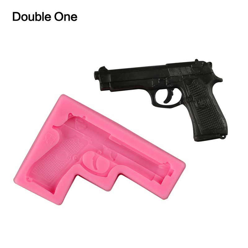 Gun Shape Silicone Mold 3D Resin Craft DIY Mould Tools For Toy Jewelry Making Decorating
