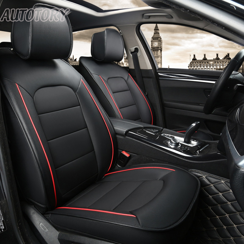 Autotory Genuine Leather Cover Seat for Mitsubishi Pajero Sport Automobiles Seat Covers Sets Cowhide 7 Seats Cushion Accessories
