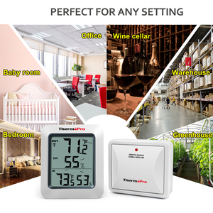 Image 5 - ThermoPro TP60S 60 メートルワイヤレスデジタル湿度計屋内屋外の温度計湿度モニター天気ステーション