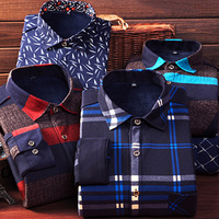 2016 New Men Casual Shirt Autumn Winter Warm Long Sleeve Shirts With Thick Velvet Men S
