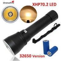 Uranusfire XHP70.2 LED Zaklamp Waterdichte Duiken Torch 32650 Batterij Onderwater Licht voor Duiken xhp70.2 Zaklamp