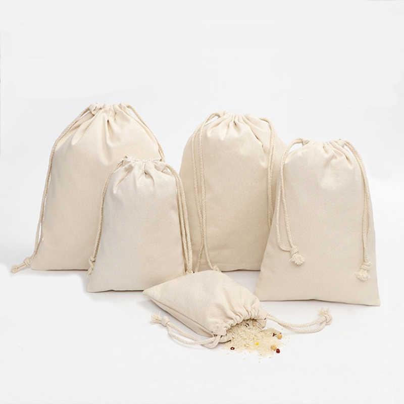 20Pcs Cotton Drawstring Bag Small Sack Handbag Storage Gift Bags Travel Pouch