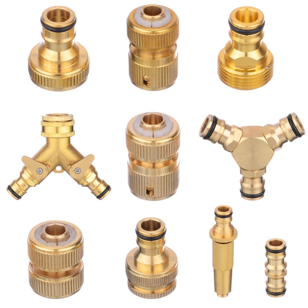 Hose-Tap-Connector Watering-Irrigation-System Threaded Garden-Water-Pipe Brass 16mm