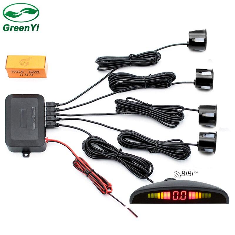 GreenYi оптовая продажа 10 шт. светодиодный Дисплей проводной автомобиль Парковочные системы Сенсор заднего хода Резервное копирование радар Сенсор со звуковым сигналом