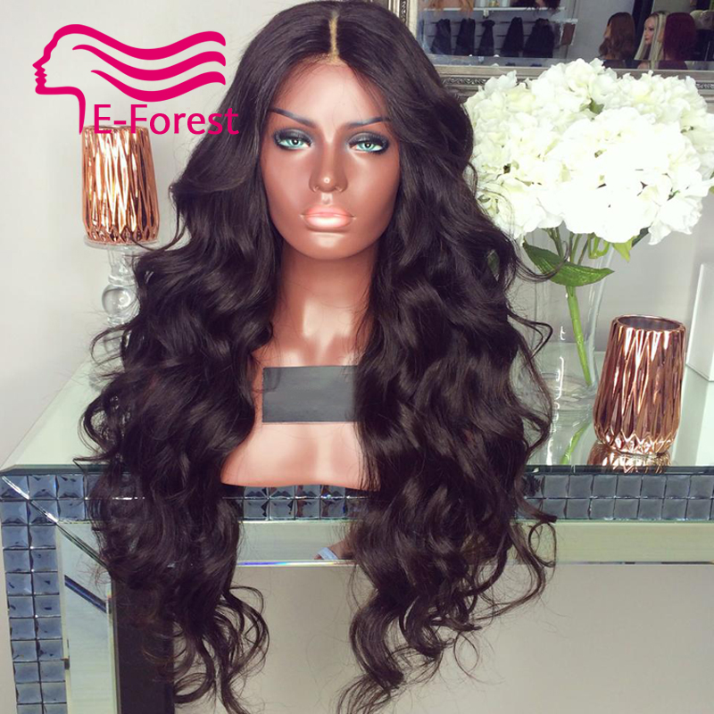 Peruvian Unprocessed virgin full lace front human hair wigs glueless body wave with Natural baby hair