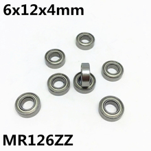 50Pcs High quality MR126ZZ L-1260ZZ ball bearing 6x12x4 deep groove ball bearing free shipping