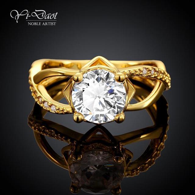 7c3149ca66f0 Кольца для женщин классики платины обручальные кольца экстравагантный  романтика золотое кольцо простой обручальное кольцо, Бесплатная