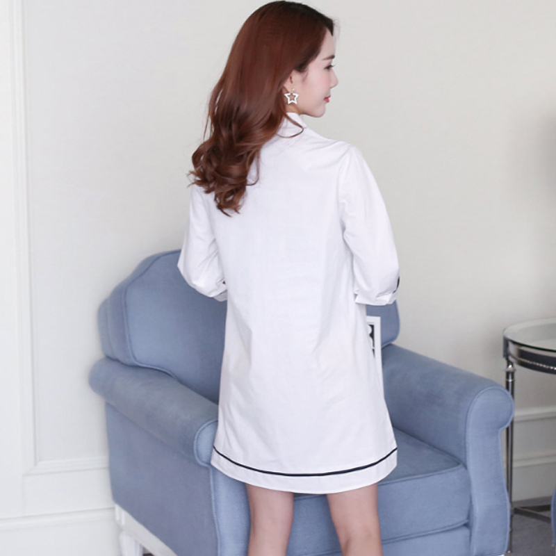 OkayMom Maternity Blouse Shirt Clothes Pregnancy Wear Tops Tees Clothing White Embroidery Clothes For Pregnant Women 2018 Lahore