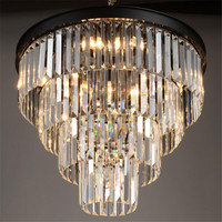 Lustre Modern Led Crystal Chandelier E14 Hanging Lighting Fixture K9 Crystal Chandeliers Lampadario Lamparas Luminaire 110V