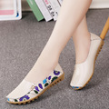 2017 Hot sale women flats  summer ladies shoes fashion solid soft loafers summer women casual flat shoes ML01