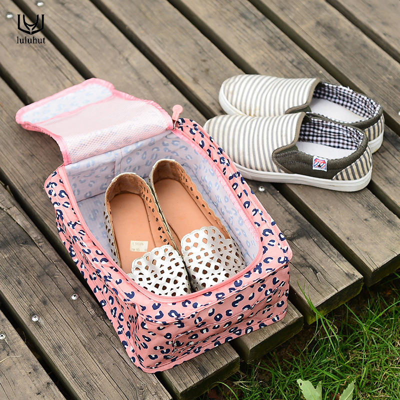 luluhut Shoe bag for travel Nylon shoe organizer Foldable storage bag for shoes underwear socks Portable shoe storage handle bag