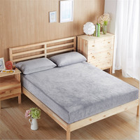 new 2017 fitted sheet Sheet Soft and Warm Flannel Fabric Bed for Home Bedclothes sabanas