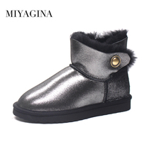 2016 New Brand Classic Women Boots Genuine Sheepskin Snow Boots High Quality Women Ankle Shoes Free