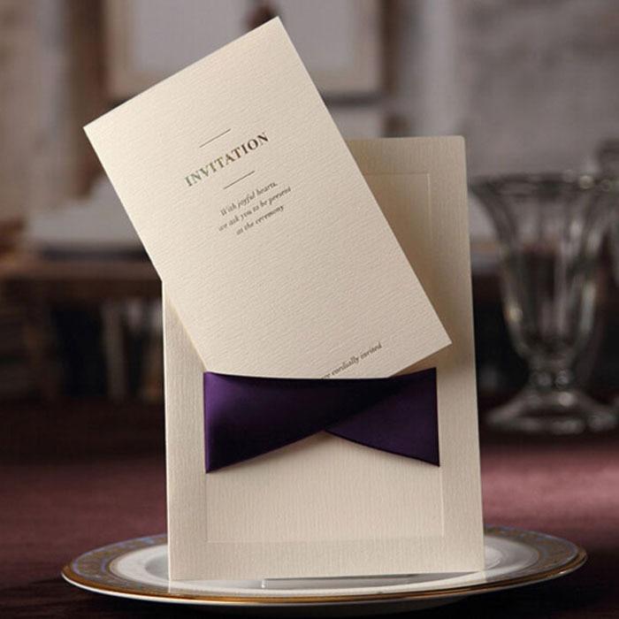 Vintage púrpura de la boda y tarjetas de invitación del banquete ...