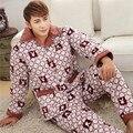 Pijama Masculino Limitada Homens Pijamas Sexy Pijamas Masculinos 2016 homens Novos do Inverno de Manga Comprida Clipe Grosso Pijamas de Veludo Coral conjunto