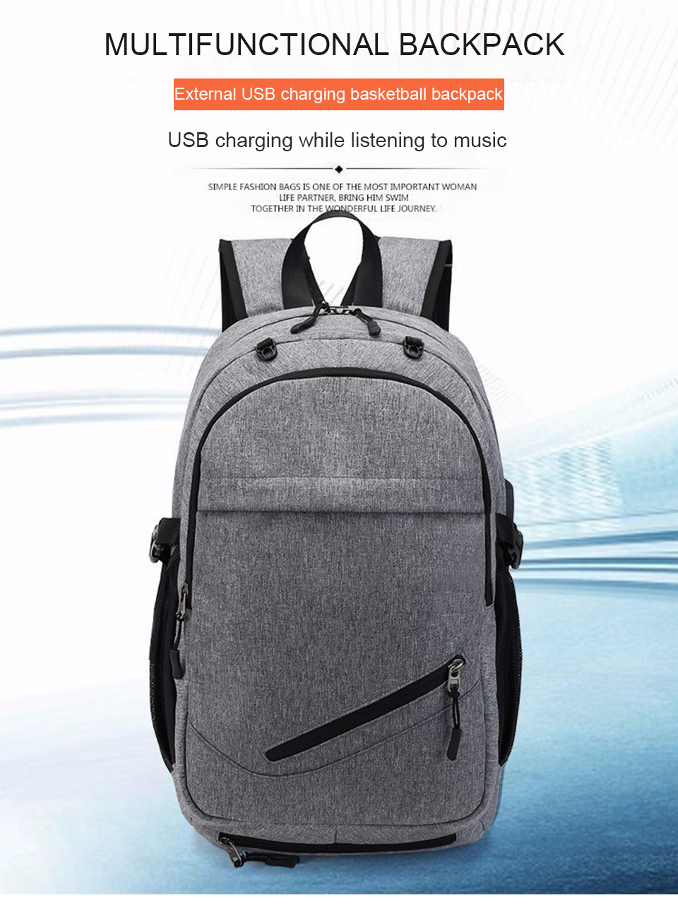 Travel Backpack Student Backpacks Laptop Notebook Back Pack Men Male Waterproof Bagpack USB Charging School Bags For Teenagers (1)