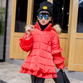 The new children's clothing in 2016 the new han edition cuhk Tong Dong down jacket girl upset lace cotton-padded clothes