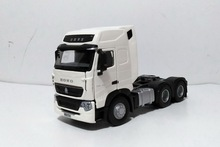 Collectible Diecast Toy Model 1:36 Ratio SinoTruk HOWO T7H Truck Tractor Trailor Vehicles Alloy for Boy Gift,Decoration