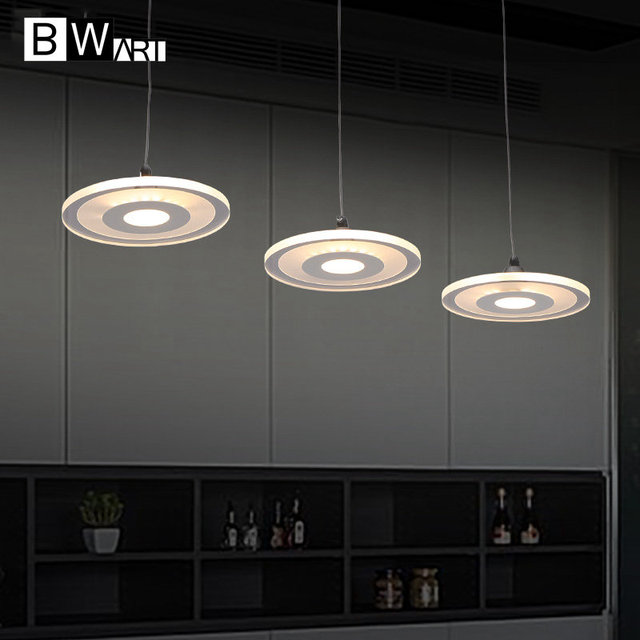 BWART Modern Suspended pendant light for restaurant dining room decorative hanging lamp fixture LED acrylic lights luminaire