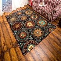 CIGI Folk Style Carpet Geometrical Pattern Blanket Rugs Nylon Fabric Floor Carpet For Bedroom Living Room