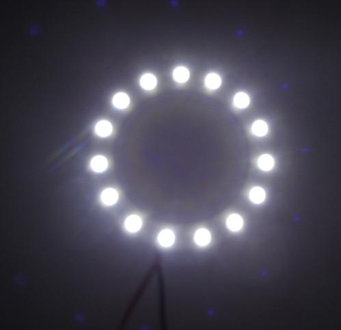 1 sztuka Gorąca sprzedaż samochód LED 60 mm apertura anioł oko - Światła samochodowe - Zdjęcie 3