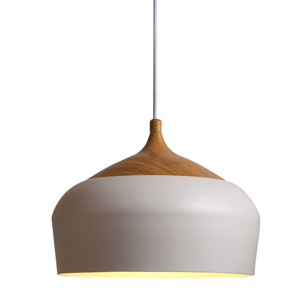 Led wood pendant light industrial lamp shades pendant for Suspension metal