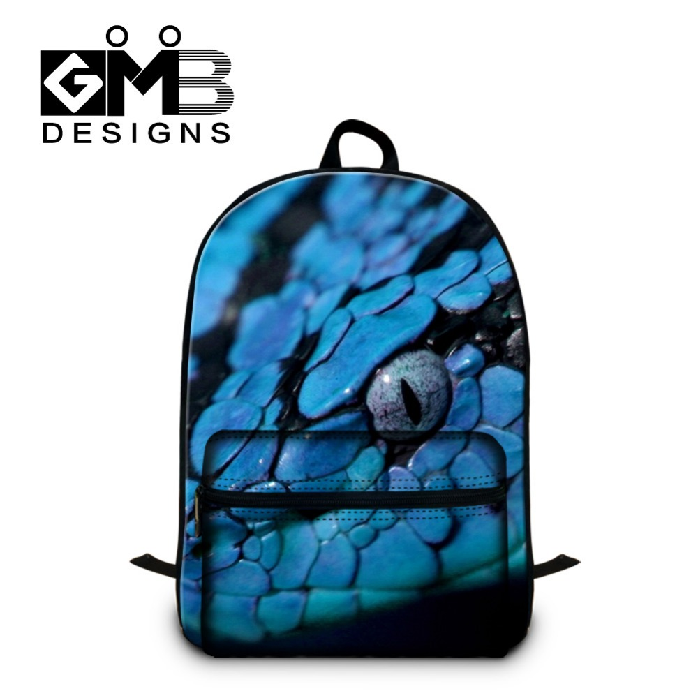 School bags for youth - Snake Design 3d Pattern School Bags For Teenagers Boys Cool Laptop Backpack Stylish Bookbag