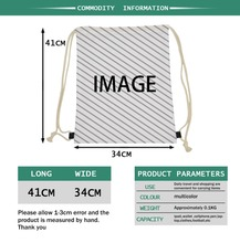 Customized Draw Strings Bag Backpack Package Any image is Available The only need is a picture