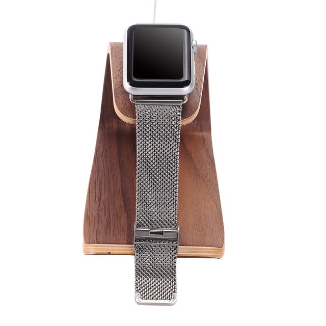 Samdi soporte de carga de teléfono de madera del sostenedor del soporte para smartphones apple watch