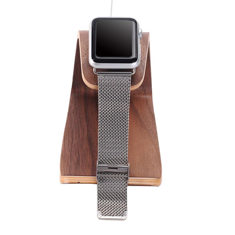 imágenes para Samdi soporte de carga de teléfono de madera del sostenedor del soporte para smartphones apple watch